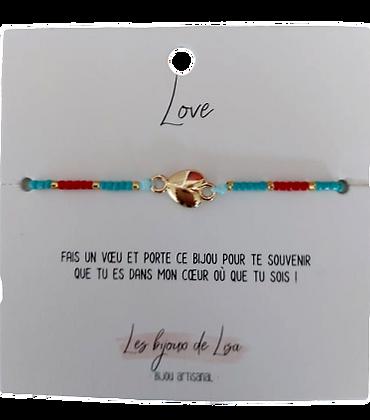 Bracelet Perles message Love
