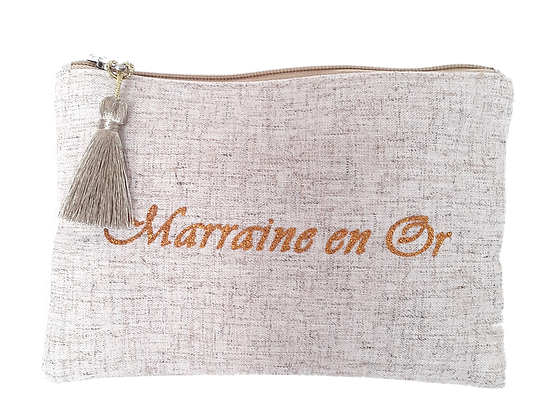 Pochette message Marraine en Or