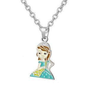 Collier pour fille -Princesse robe verte