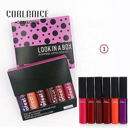 Ensemble de rouge à lèvres anti-adhésif, rouge à lèvres durable et imperméable