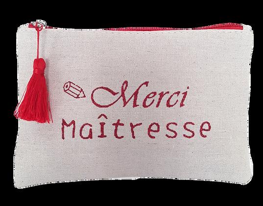 Pochette message Merci Maîtresse