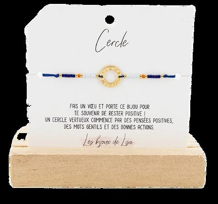 Bracelet Perles message Cercle