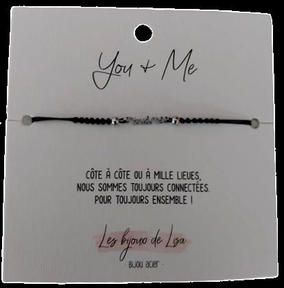 Bracelet message You&Me