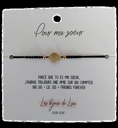 Bracelet message Pour ma soeur