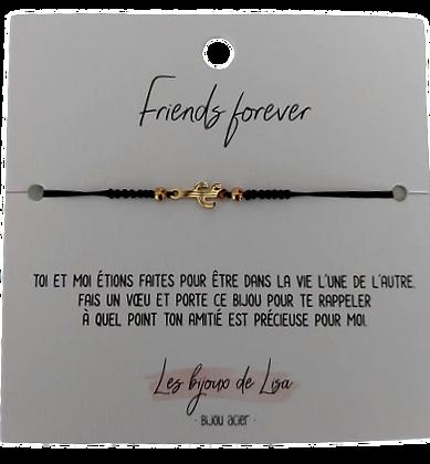 Bracelet message Friends forever