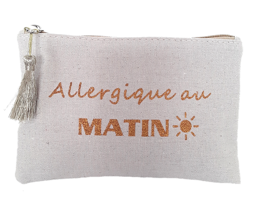 Pochette message Allergique au Matin