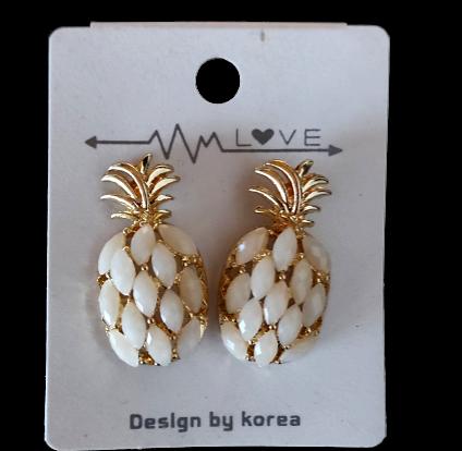 Boucle oreille Ananas