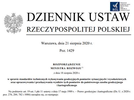 Nowe Rozporządzenie Ministra Rozwoju - standardy techniczne z dnia 18.08.2020r