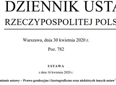 Zmiany w prawie geodezyjnym 2020