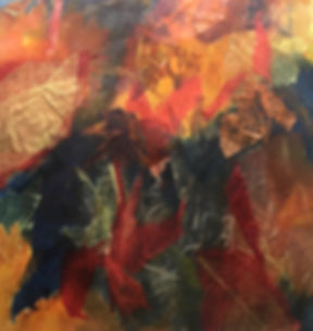 Kaleidoscope of Leaves, Watercolor_Colla