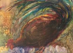 Feeling Peckish, Watercolor $175