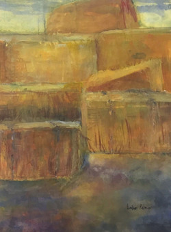 Haystack at Patrick Ranch, Watercolor $1