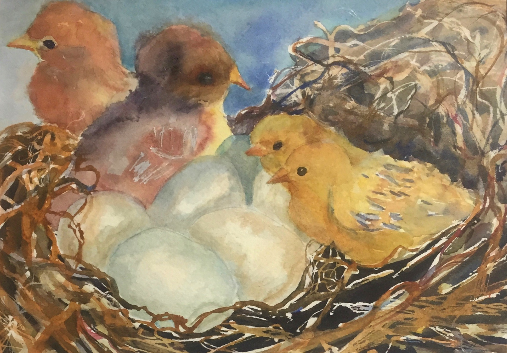 Hatching, Watercolor $150.00_edited
