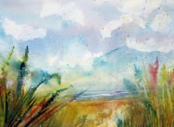 The Ocean is Calling Watercolor 16x20 $3