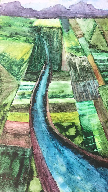 The Valley, Watercolor