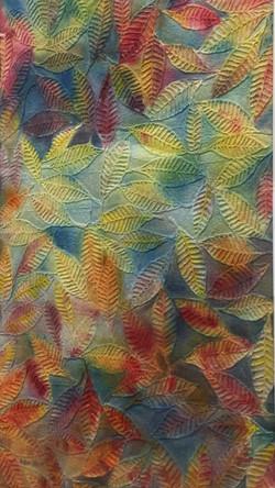 Kaleidoscope of Leaves, Watercolor on Ha