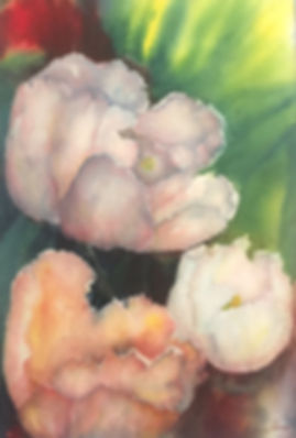 Full Bloom, Watercolor $400.00