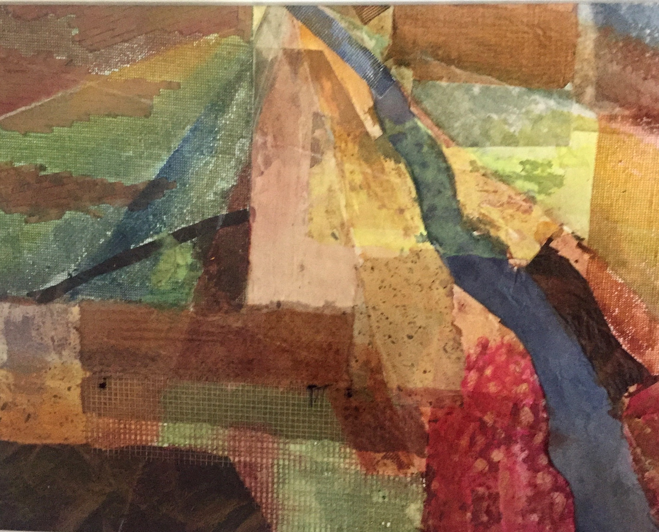 Fertile Ground, Water Color and Collage