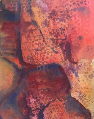 Devil's Kitchen, Watercolor $200.00_edit