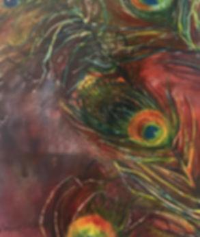 Eye of the Peacock, Watercolor $200.00_e