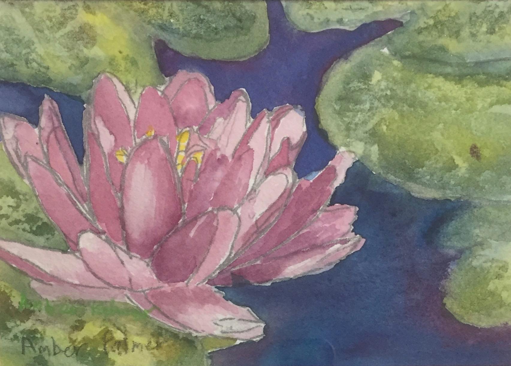 Lotus Meditation, Watercolor $100