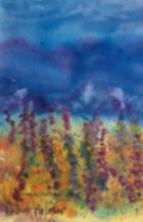 Butte Valley Meadow, Watercolor $175.00