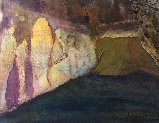 Ancestral Dwelling, Watercolor $200.00_e