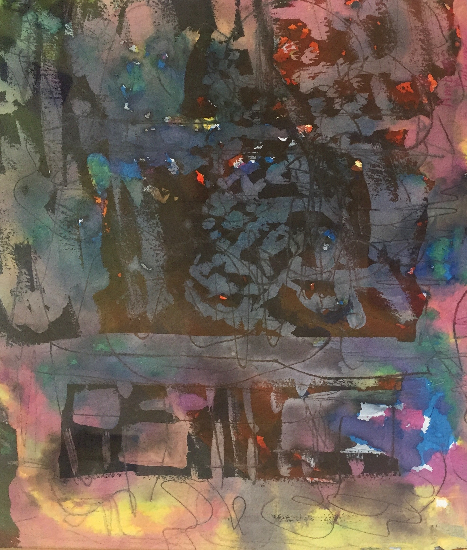 Improvisation, Watercolor $300