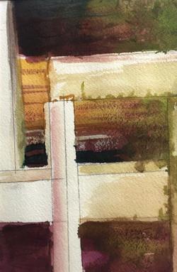 Crossing Fences, Watercolor $175