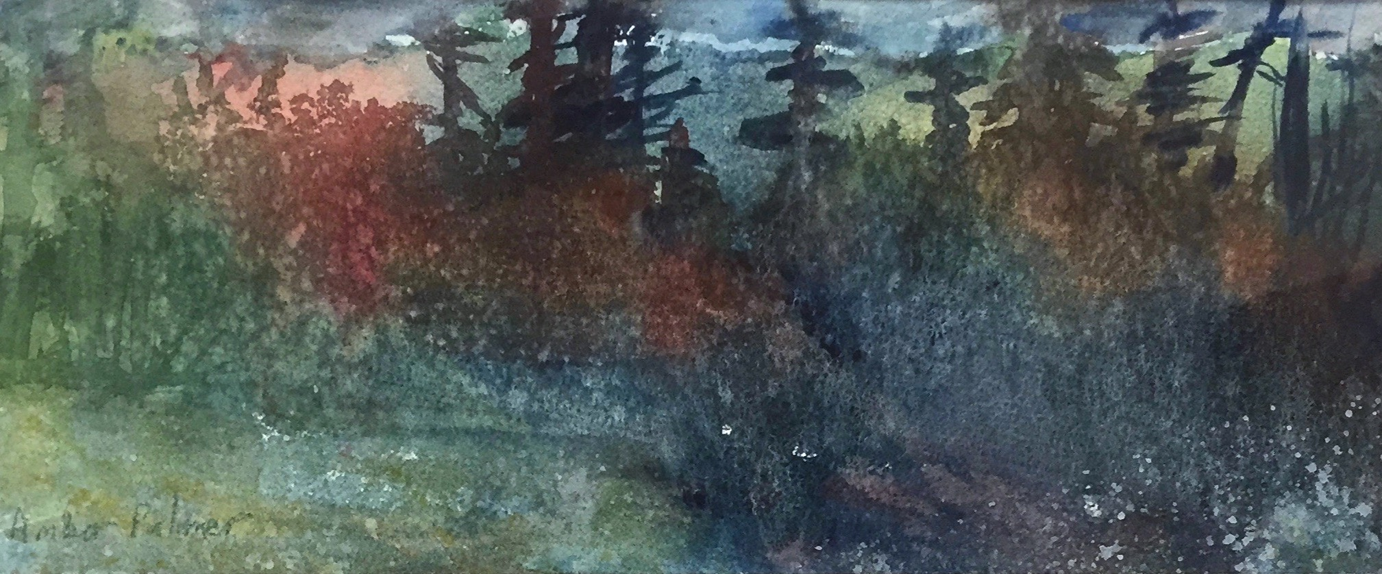 Hot Forest, Watercolor $175.00_edited