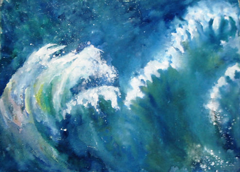 Listen to the Waves, Watercolor