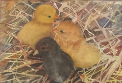 Chick-a-dees, Watercolor $150.00_edited.