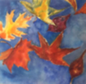 Falling Leaves, Watercolor $350.00_edite