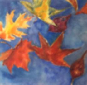 Falling Leaves, Watercolor $350.00_edite