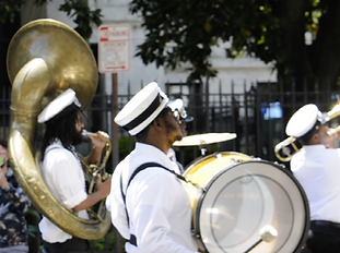 brass band second line bass drum and tub