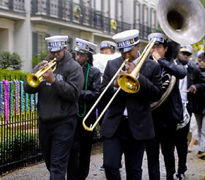 new orleans second line brass band parad