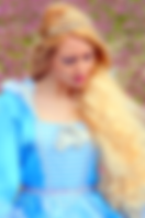 princess ball gown blue