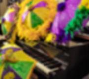 brass band umbrellasmardi gras side view