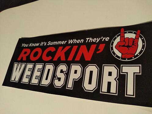 Rockin' Weedsport Bumper Sticker