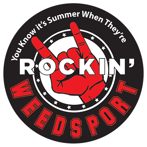 Rockin' Weedsport Salute Sticker