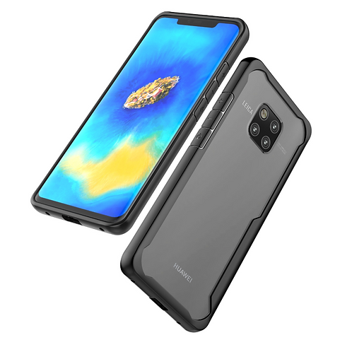 Huawei Mate 20 Hybrid Shockproof Soft Bumper Slim Clear back Cover