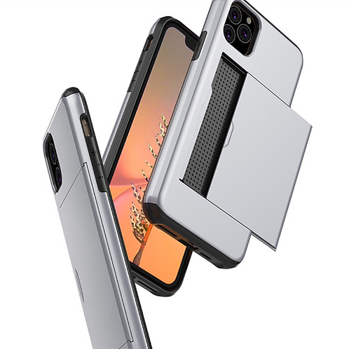 iPhone slim armor back cover with card sloy