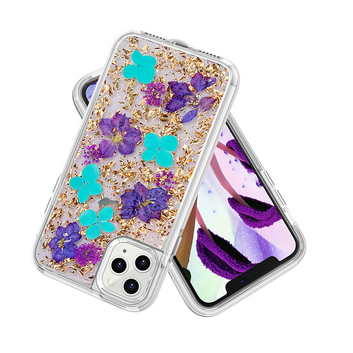 iPhone clear case with dry flowers