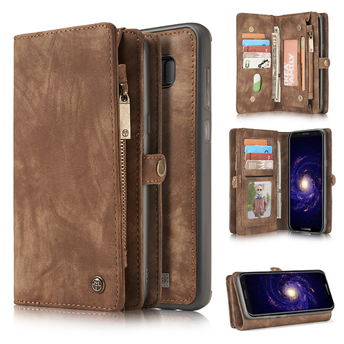 Samsung Multi-function Magnetic Flip Zipper Wallet Case - CaseMe