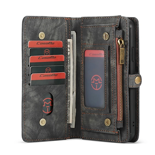 iPhone Multi-function Magnetic Flip Zipper Wallet Case - CaseMe