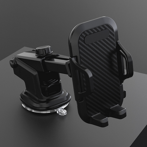 Universal suction cup car phone holder