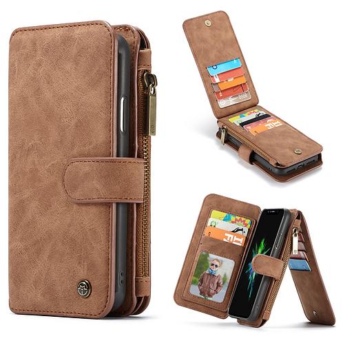 iPhone Multi-function Magnetic Flip Zipper Wallet Case