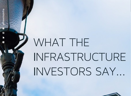 What the Infrastructure investors say...