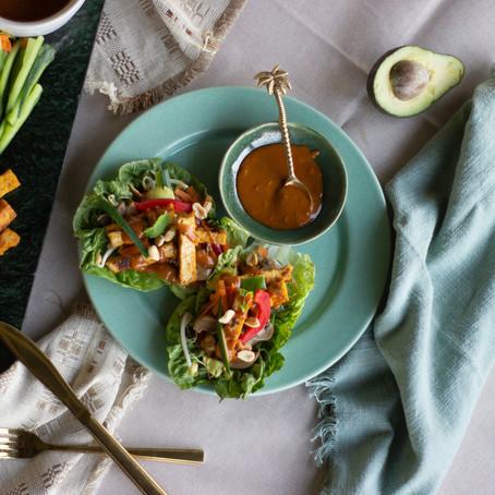 Satay Lettuce Wraps