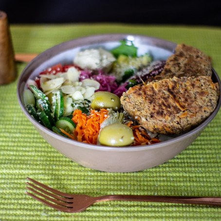 Gut Health Salad with Vegetable Patty